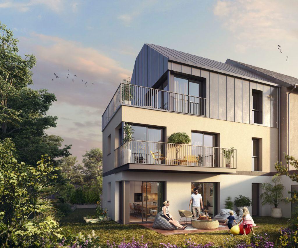 Perspective du programme immobilier Tymmo, Les Terrasses des Alizés à Guipavas