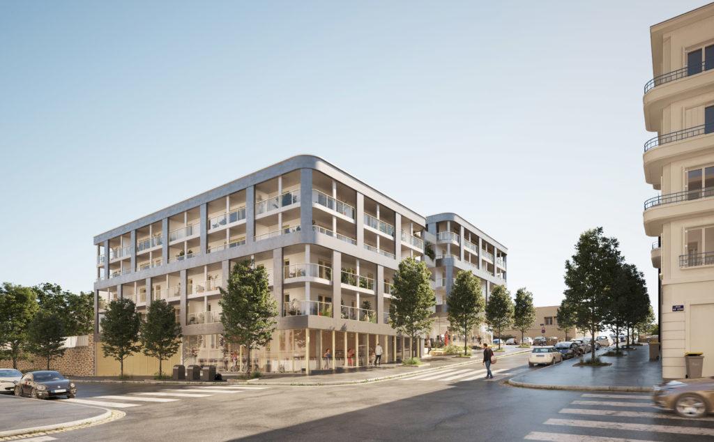 perspective du programme immobilier rue de lyon à Brest